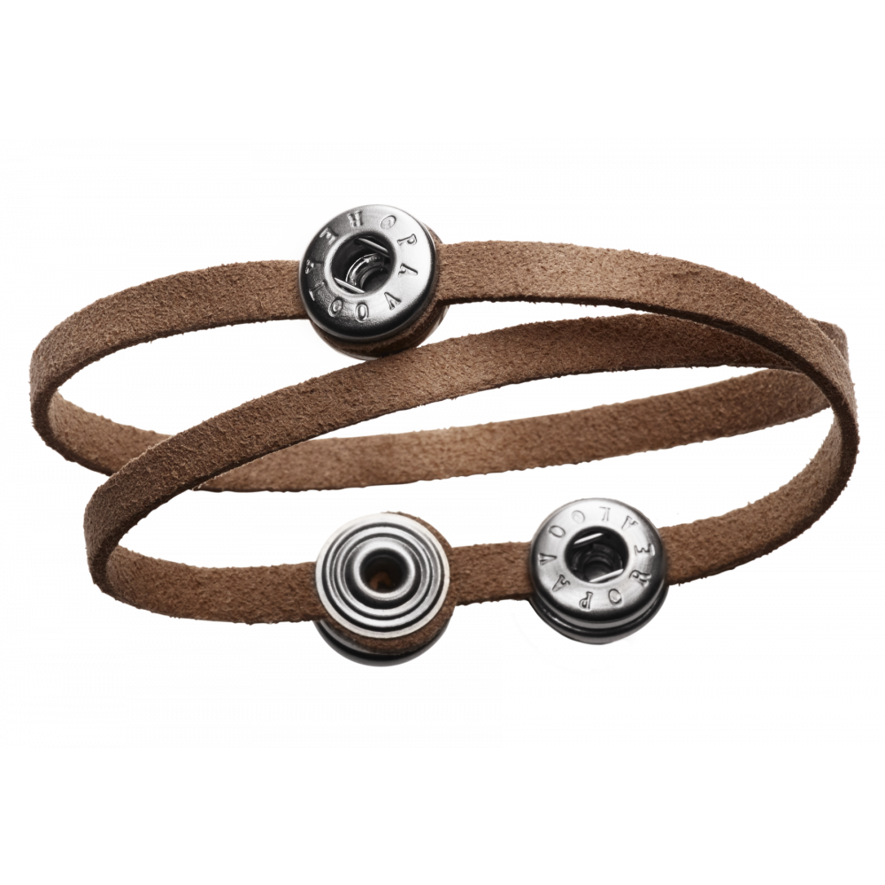 Pequeno Bracelet Solo Double brown