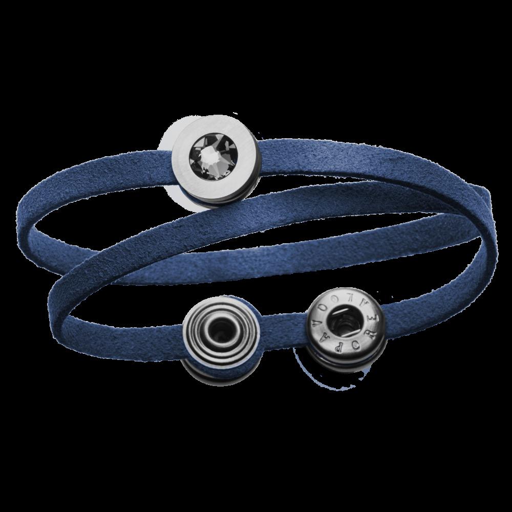 Pequeno Bracelet Solo Double deep blue