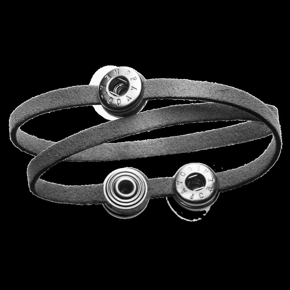 Pequeno Bracelet Solo Double grey