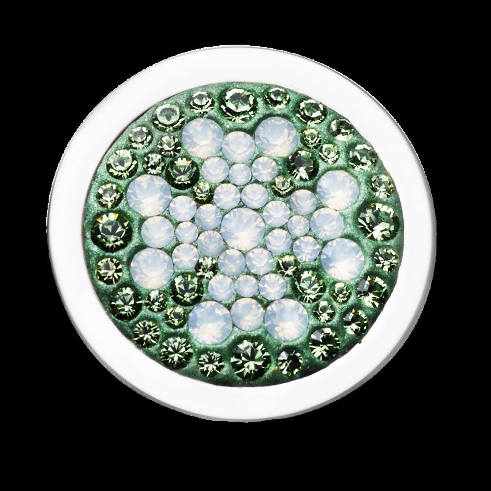 Clásico Diam Relleno Cloverleaf Green-Crystal