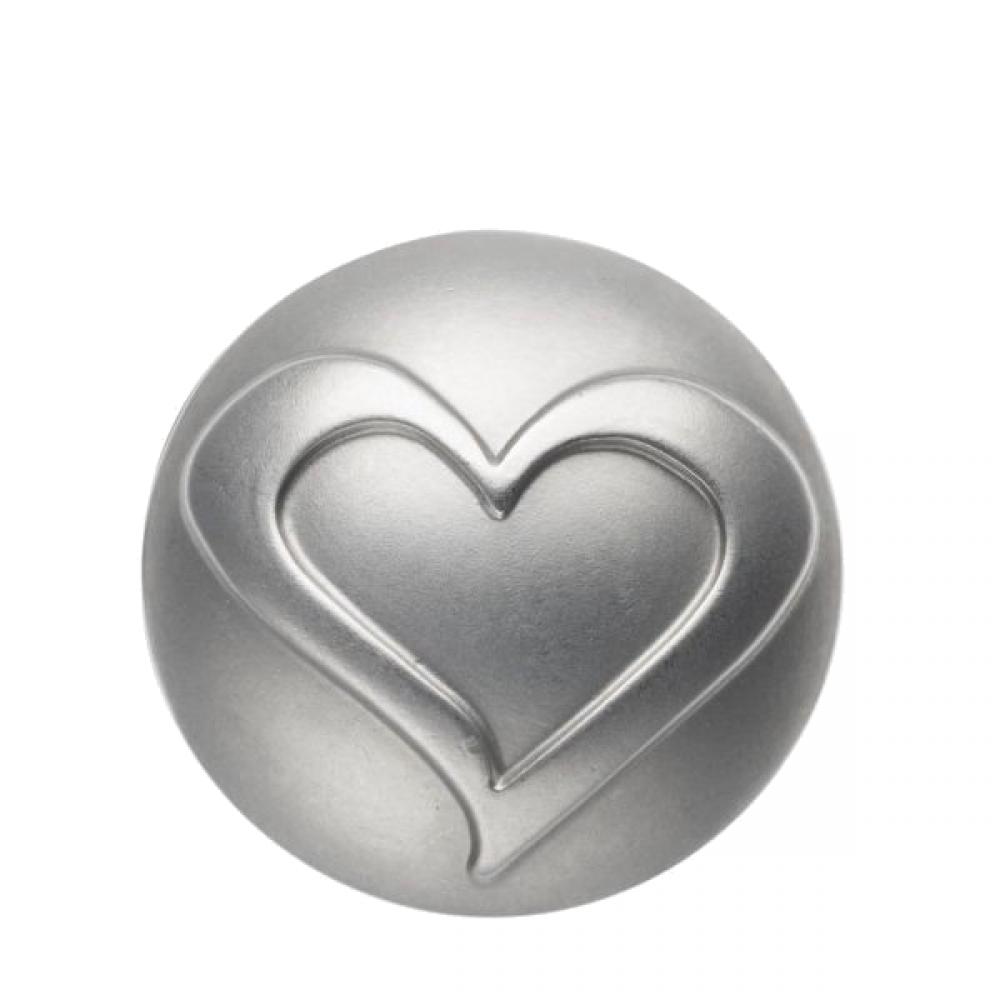 Pequeno Diam rhodium heart line