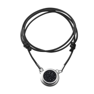 Necklace Solo Black  45cm polished