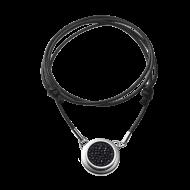 Necklace Solo Black  45cm polished
