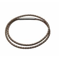 Necklace Leder braided champagner 45cm