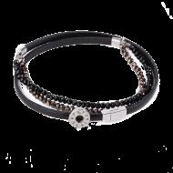 Pequeno Bracelet Triple Pearl Black XS