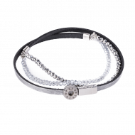 Pequeno Bracelet Triple Pearl Silver XS