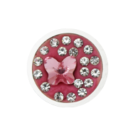 Pequeno Diam Relleno Butterfly light rose