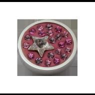 Pequeno Diam Relleno Star shades pink