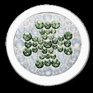 Clásico Diam Relleno Cloverleaf Crystal-Green