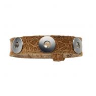 Bracelet Leder Fiore cognac