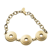 Bracelet Tres Gold 22mm curved polished