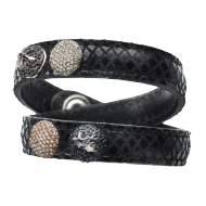Pequeno Bracelet Wave double black2